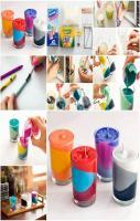 Colorful Glass Candles