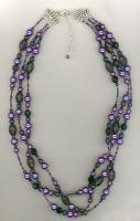 Melinda Jernigan  Purple Champagne Beaded Crystal and Pearls