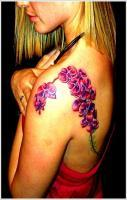 Beautiful Orchid Tattoo Design For Girl