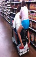 Hitchhiking at Walmart - Funny Pictures at Walmart