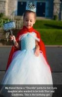She wanted to be Thor, and Cinderella