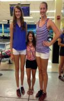 UCF two tallest volleyball players and shortest cheerleader. This does