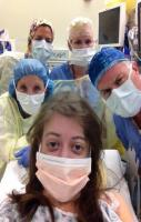 About to go into surgery..... But first let me take a selfie