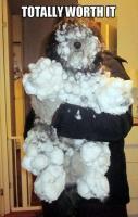 Snow puppy!