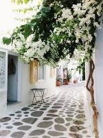 Streets in Paros Island Greece