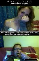 The truth of girls on skype Chatting