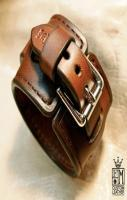 Leather cuff Bracelet custom crafted in NYC