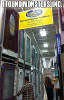 monsters inc, funny doors in lowes