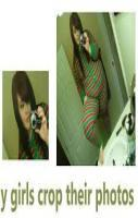 funny girls crops their photos