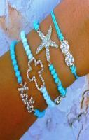 Ooohh I love the colors and the star bracelet I need on of these
