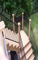Outdoor Stair Railing Ideas Wood Porch Railing