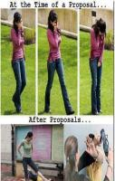 Girls The Time Of Proposal Vs After Proposal