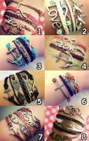 Cute Infinity Charm Bracelets, Boho Bracelet, Bohemian Jewelry, Hippie