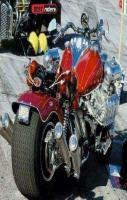 Hot Red Bike With Big Engine