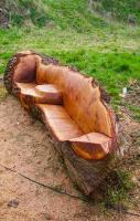 Oak furniture for the garden
