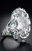 5.92 Carat European-Cut Diamond Art Deco Style Ring