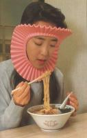 Protects your hair when you eat... because getting food in your hair w