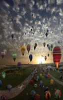 The largest hot-air balloon gathering in the world in Chambley, France
