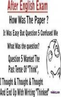 After English Examination my THinking