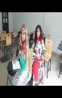College Girl at Examination Time