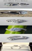 14k White gold - Diamond Engagement Ring