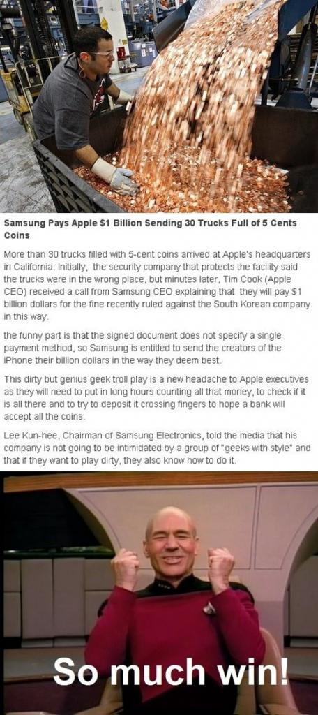 How samsung Pay $1 Billion to Apple