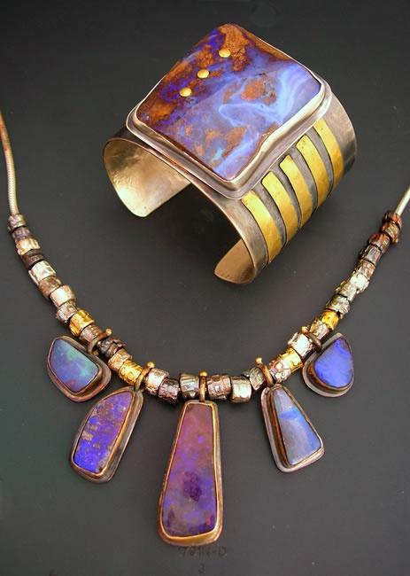 Beautiful Boulder Opal Jewelry