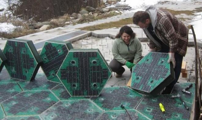 An Idaho couple has developed solar panels capable of being used as a