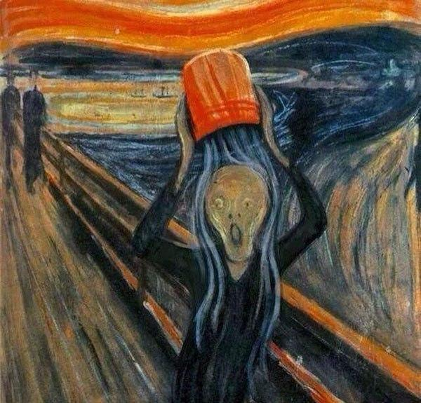 Ice Bucket Challenge by Edvard Munch