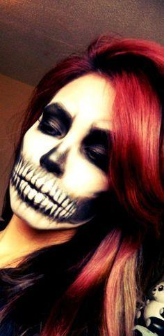 skull face makeup... wow thats skill!! I almost put this under art bec