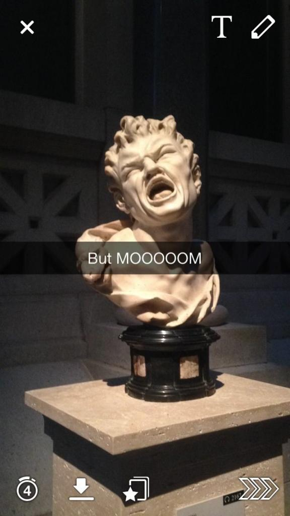Quality snapchats from the Met