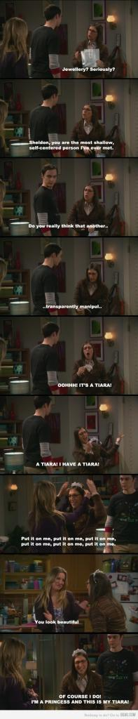 Big Bang Theory - Just Amy Farrah Fowler and her tiara.