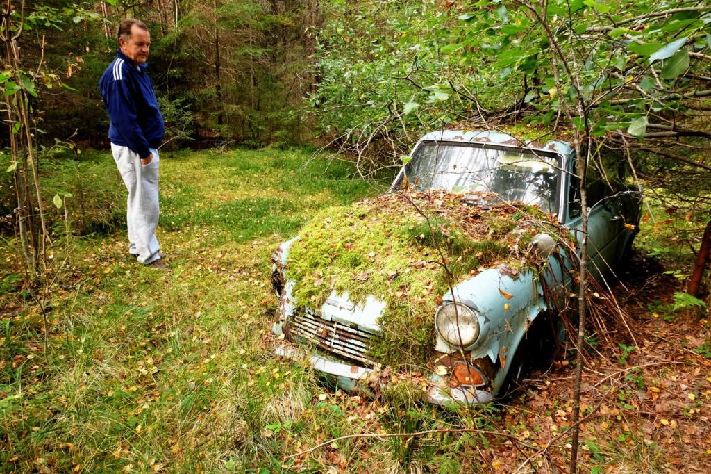 Took my dad to see if his first car was still where he left it when it
