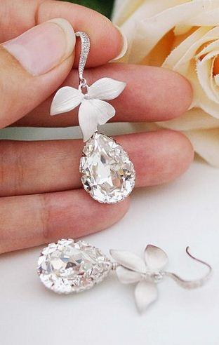 Wedding Jewelry Bridal Earrings Bridesmaid Earrings Bridal Jewelry Bri