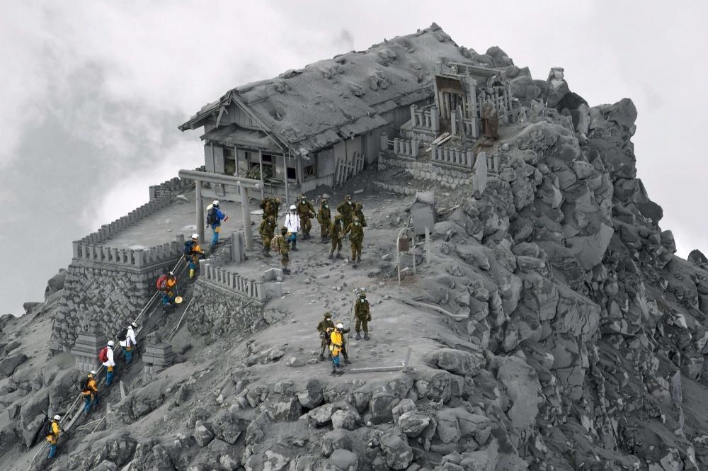 volcanic eruption, Japan