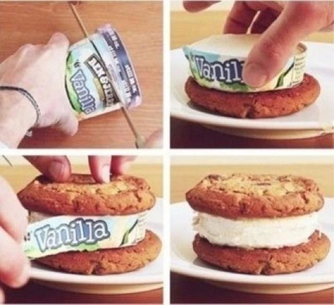 The best easiest way to make an ice cream sandwich