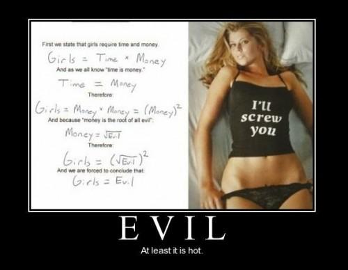 How Girls are EVIL Mathematically... LOL