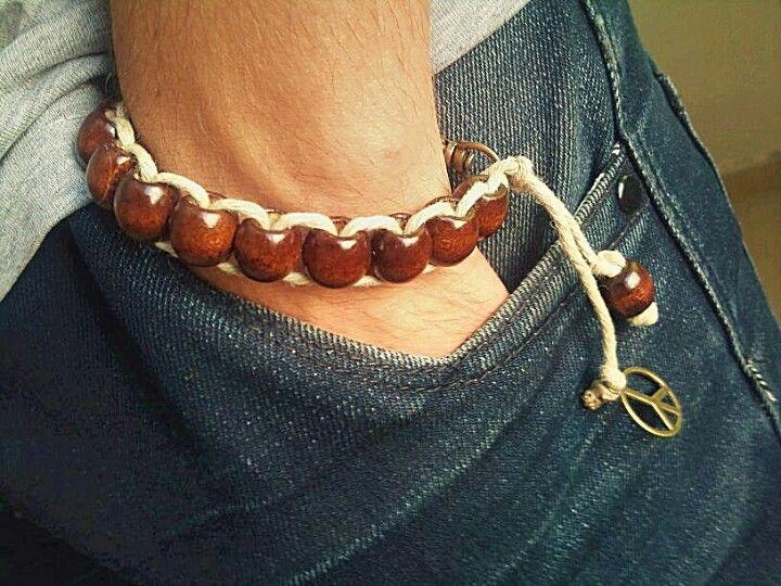 Diy brown men bracelet