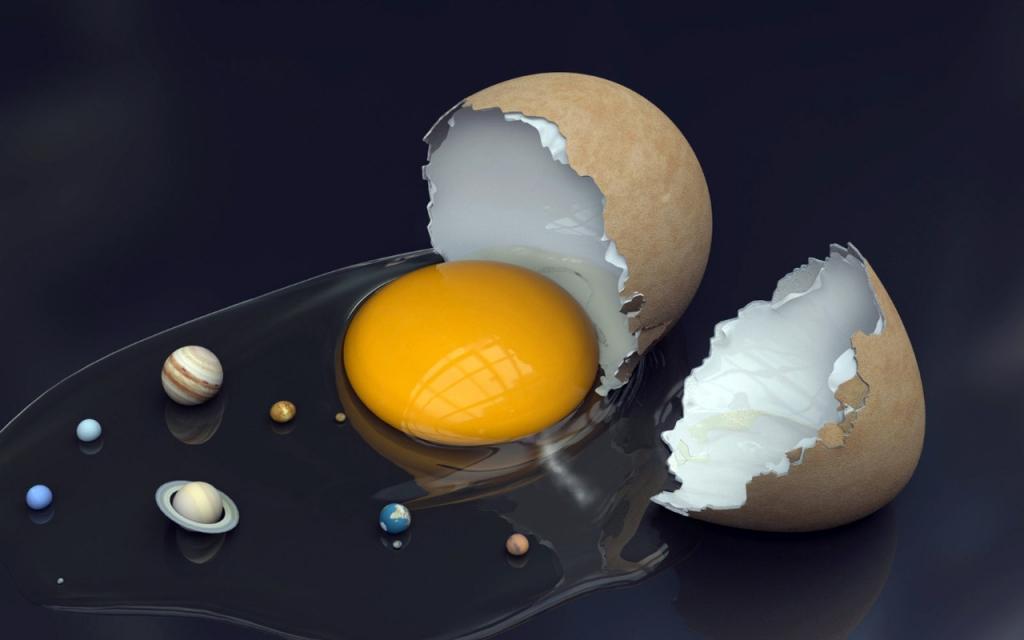Solar system in an.. eggshell