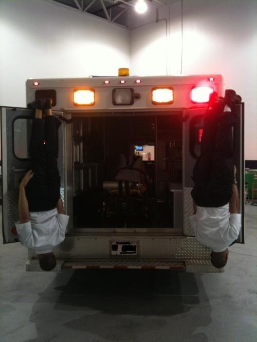 EMT must have been a slow day. Haha ~ Re-Pinned by Crossed Irons Fitne