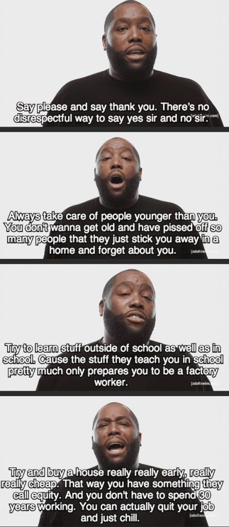 Life advice to follow…