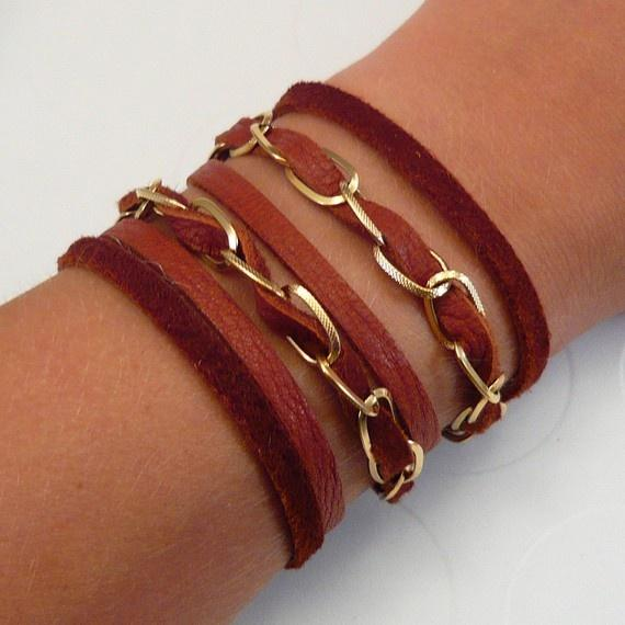 Leather Braid Strands Bracelet Suede Rope Bracelet