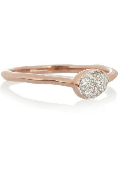 Monica Vinader Small Siren rose gold-plated ring