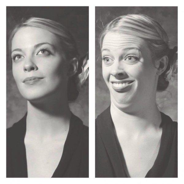 This gal's got talent, she's a real-life cartoon character. No need