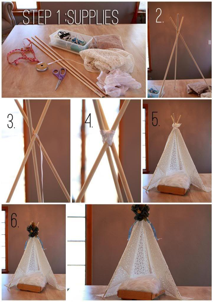 DIY Newborn Tent Photo Prop