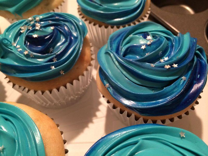 Made some timey-wimey space cupcakes for the Doctor Who premiere tomor