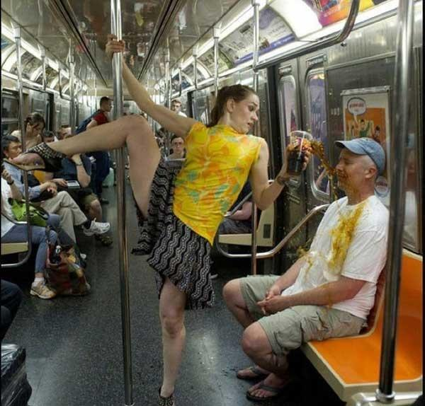 A Subway Pole Dance And A Coke
