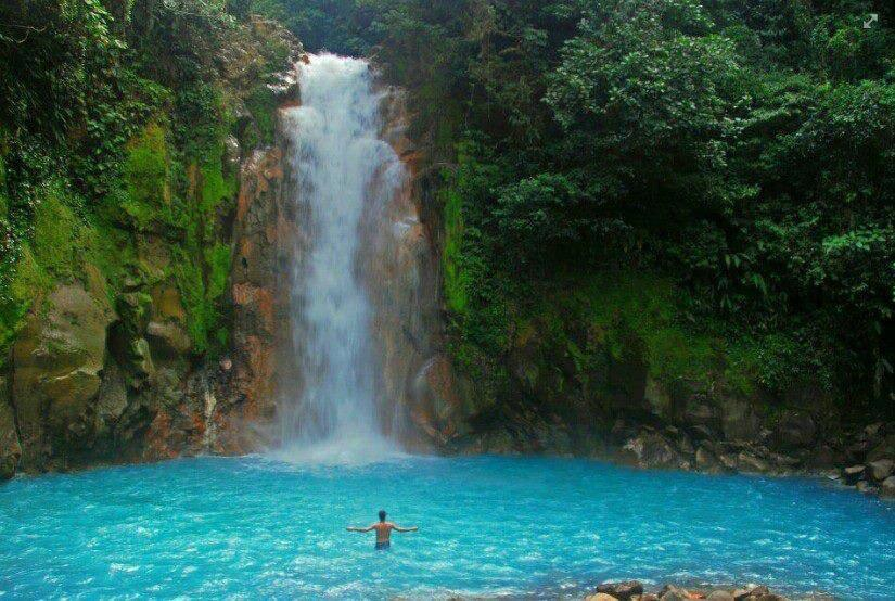 Amazing Water Fall in Costa Rica