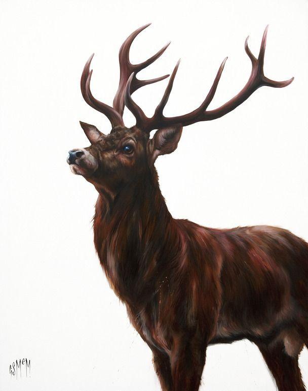 saatch artist wildlife  Saatchi Online Artist Georgina McMaster Acryli