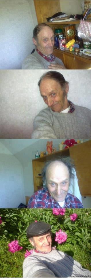 grandpa discovered facebook